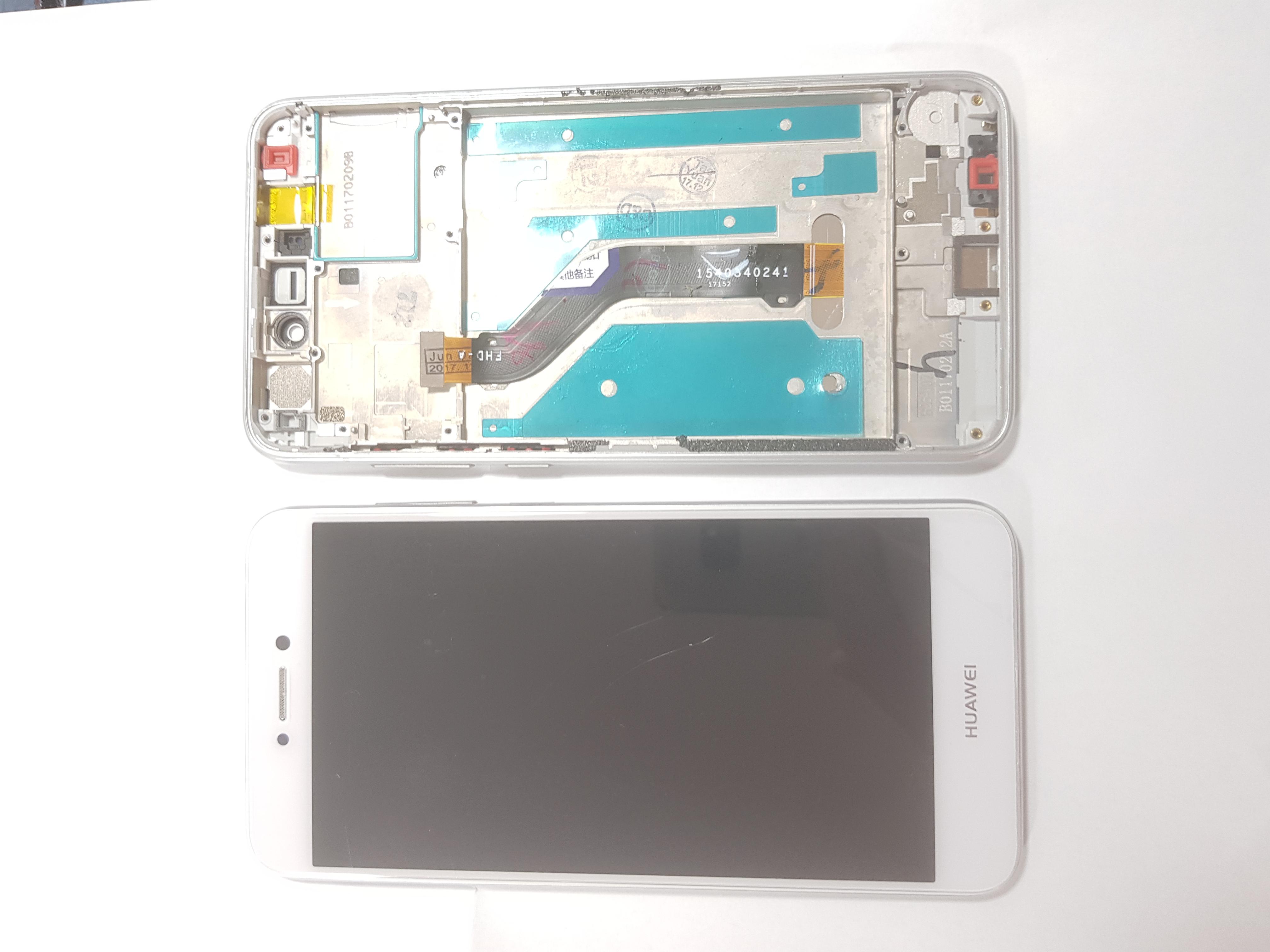 Ecran Display cu rama Huawei P8 Lite P9 lite 2017 Alb 0