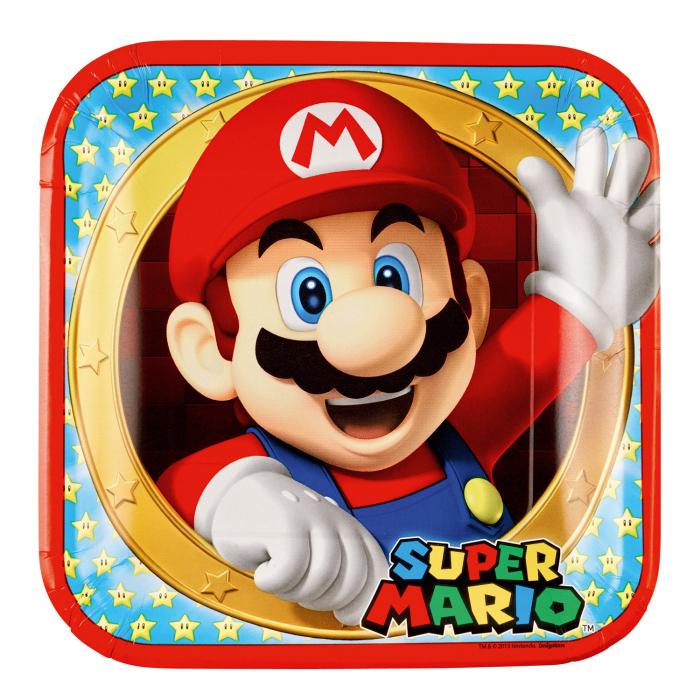 Set 8 Farfurii Super Mario, 22.8 cm [0]