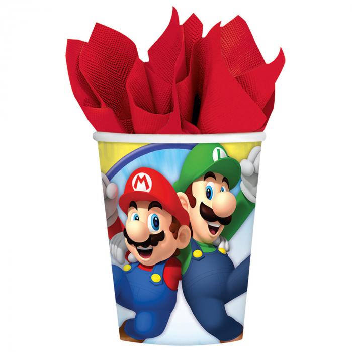 Set 8 Pahare Super Mario, 250 ml 0