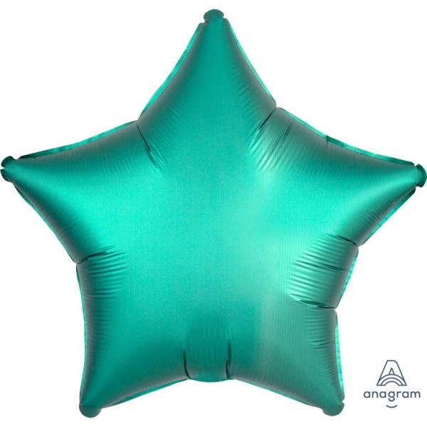 Balon Folie Stea, Satinat, Verde - 43 cm [0]