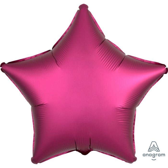 Balon Folie Stea, Satinat, Fucsia - 43 cm 0