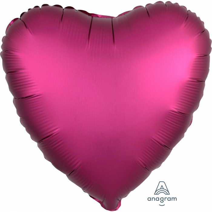 Balon Folie Inima, Satinat, Fucsia - 43 cm 0