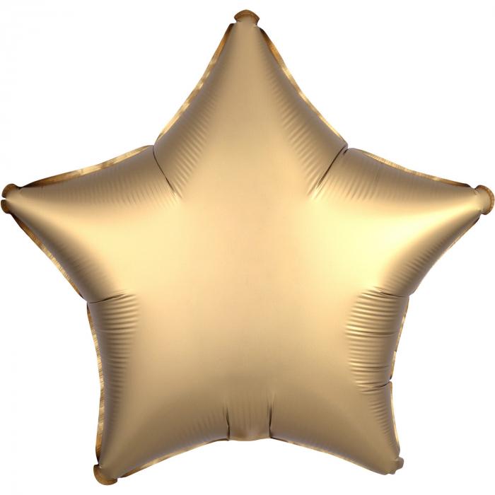 Balon Folie Stea, Satinat, Auriu - 43 cm 0