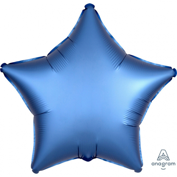Balon Folie Stea, Satinat, Albastru - 43 cm [0]