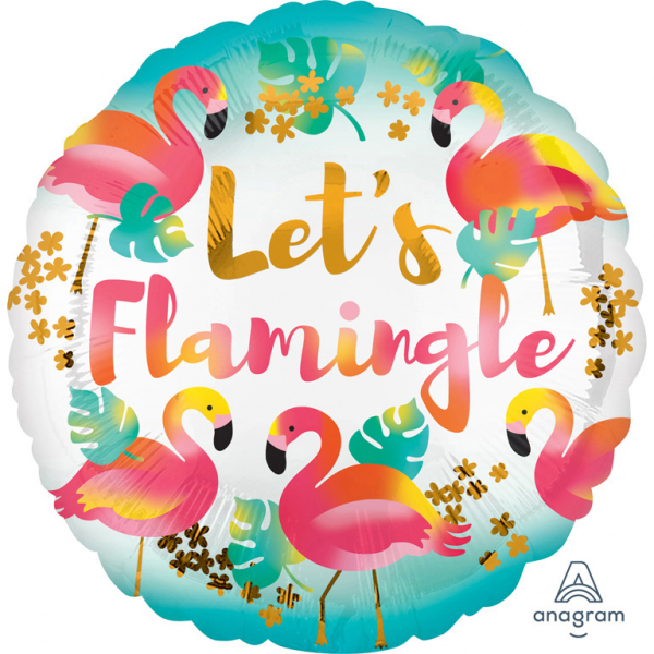 Balon Folie Let's Flamingle - 43 cm 0