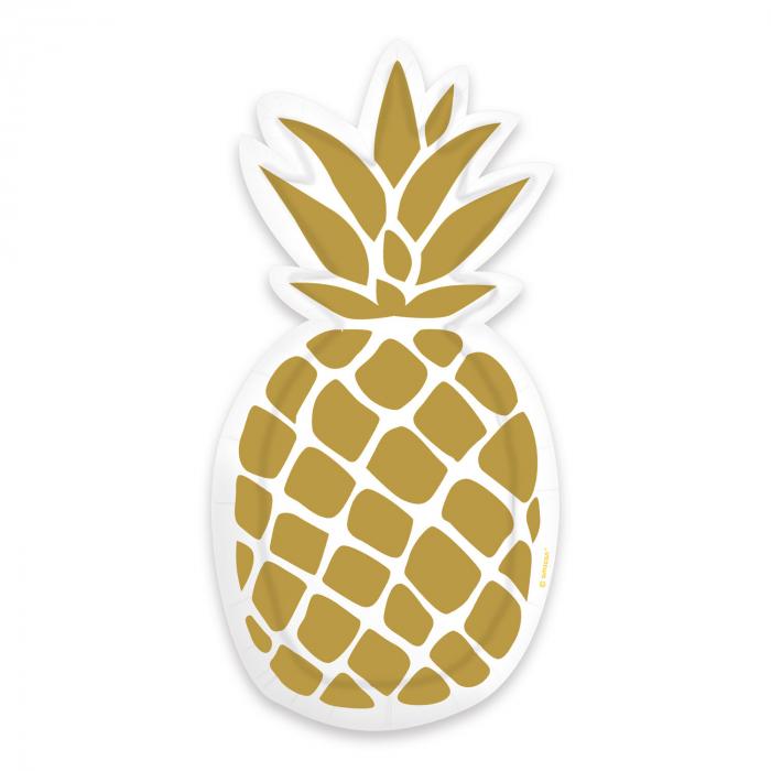 Set 6 Farfurii Ananas, 24 cm [0]