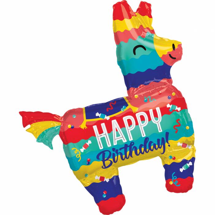 Balon Folie Happy Birthday Llama - 73x83 cm 0