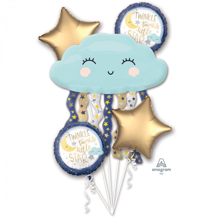 Buchet 5 Baloane Twinkle Little Star 0