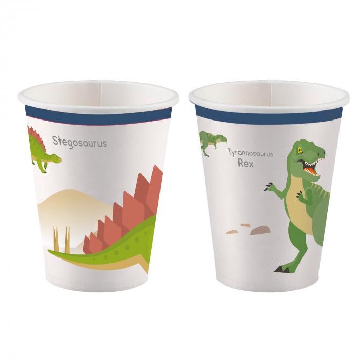 Set 8 Pahare Dinozaur, 250 ml [0]