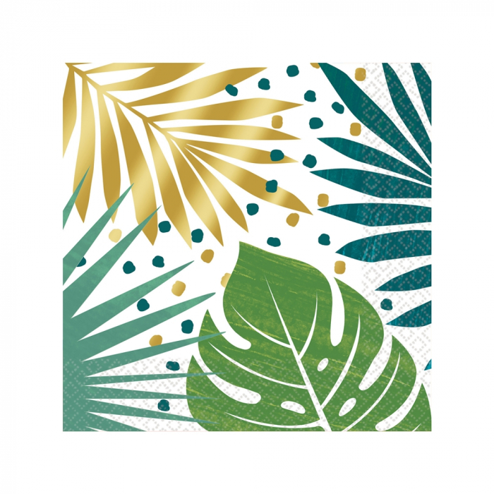 Set 16 Servetele Frunze Tropicale [0]