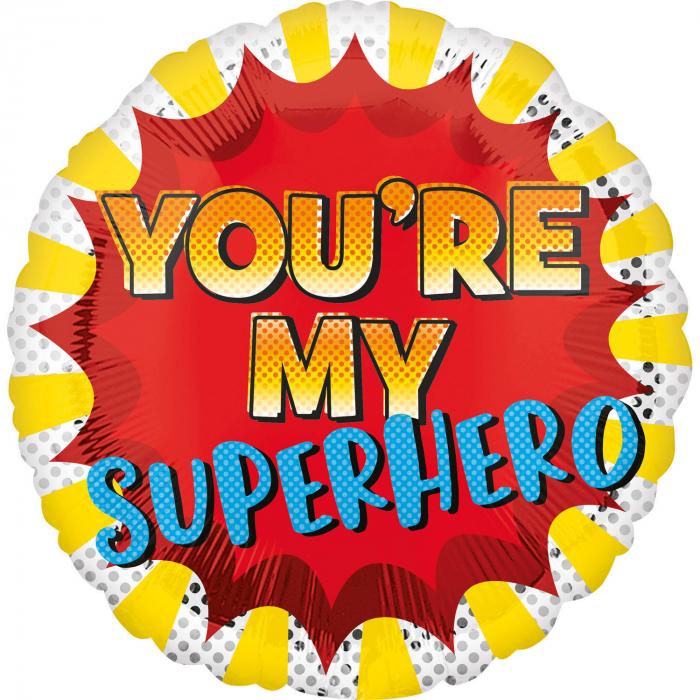 Balon Folie You're my Superhero - 45 cm [0]
