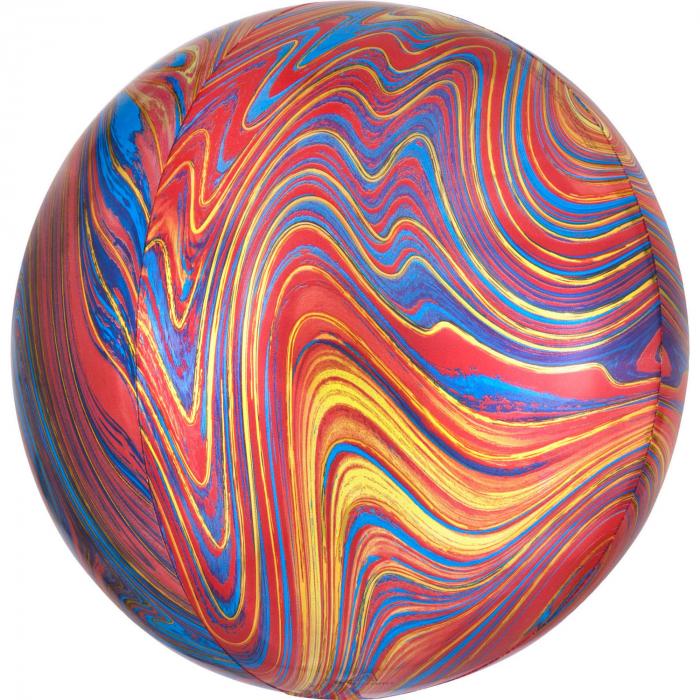 Balon Folie Marble, Multicolor - 41 cm 0