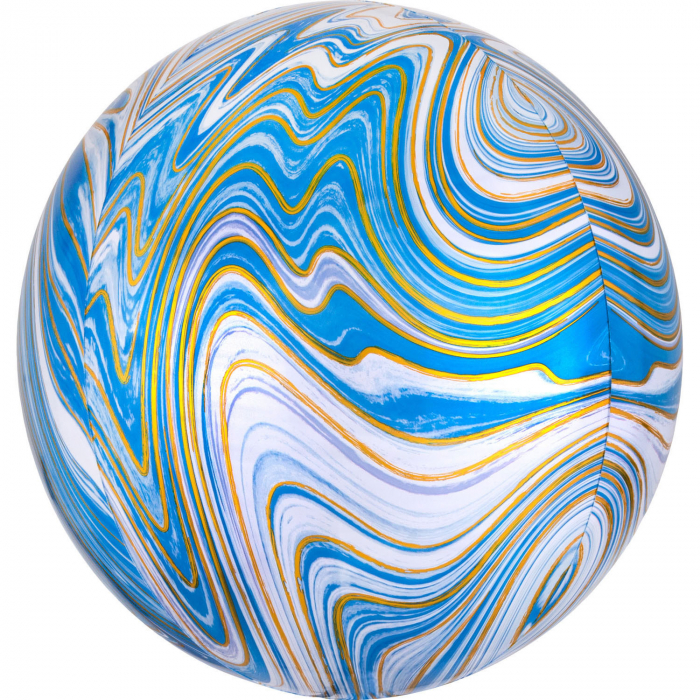 Balon Folie Marble, Albastru - 41 cm [0]
