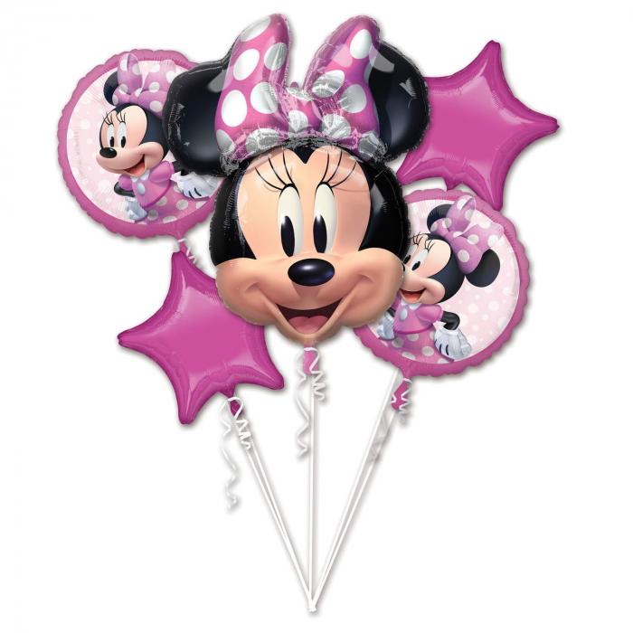 Buchet 5 Baloane Minnie Mouse Forever [0]
