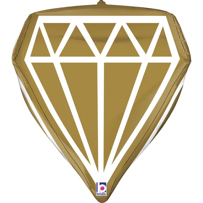 Balon Folie Diamant 4D - 61 cm [0]