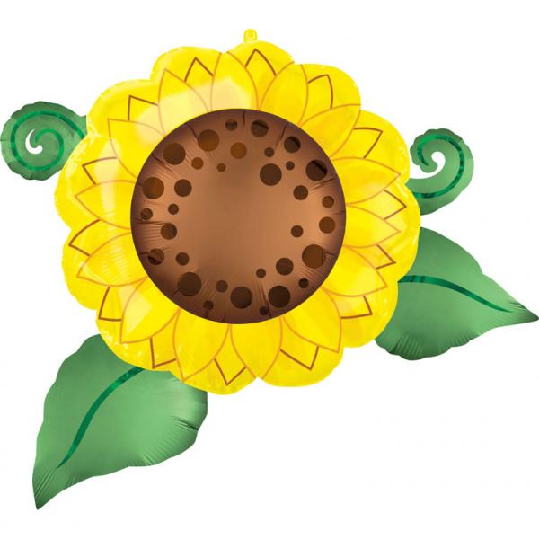 Balon Folie Floarea Soarelui - 76 x 66 cm [0]