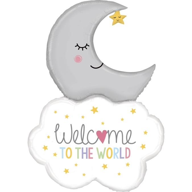 Balon Folie Welcome Baby Moon - 107 cm [0]