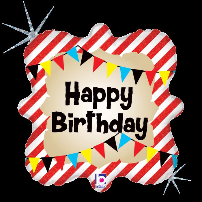 Balon Folie Petrecerea Piratilor Happy Birthday - 46 cm 0