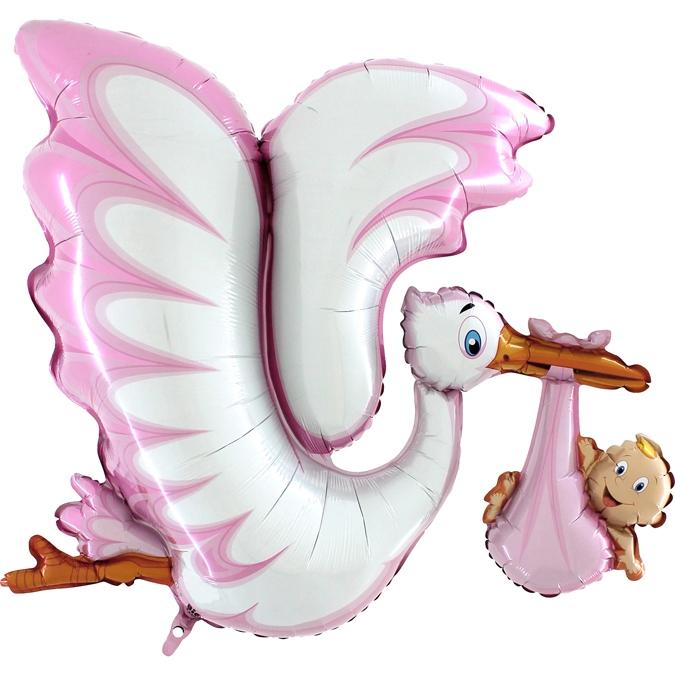 Balon Folie Barza, Roz - 135 cm [0]