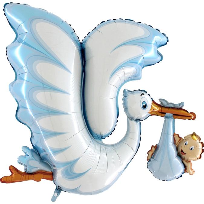 Balon Folie Barza, Albastru - 135 cm [0]