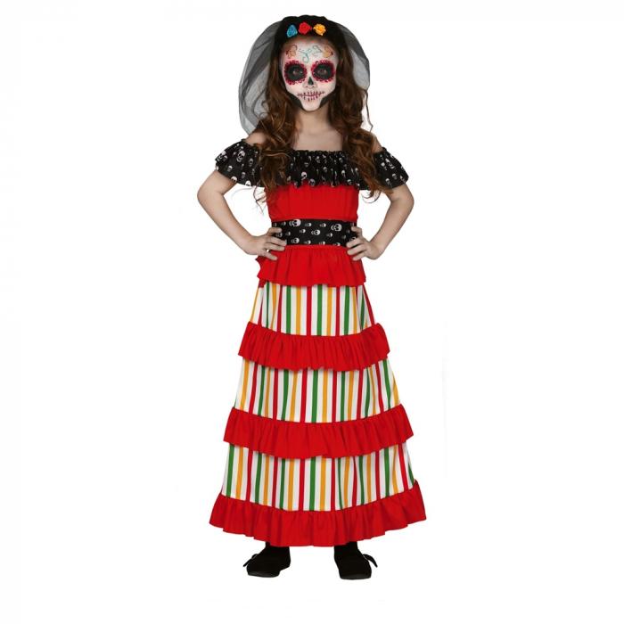 Rochie Schelet Dia de Los Muertos 5 - 6 ani [0]