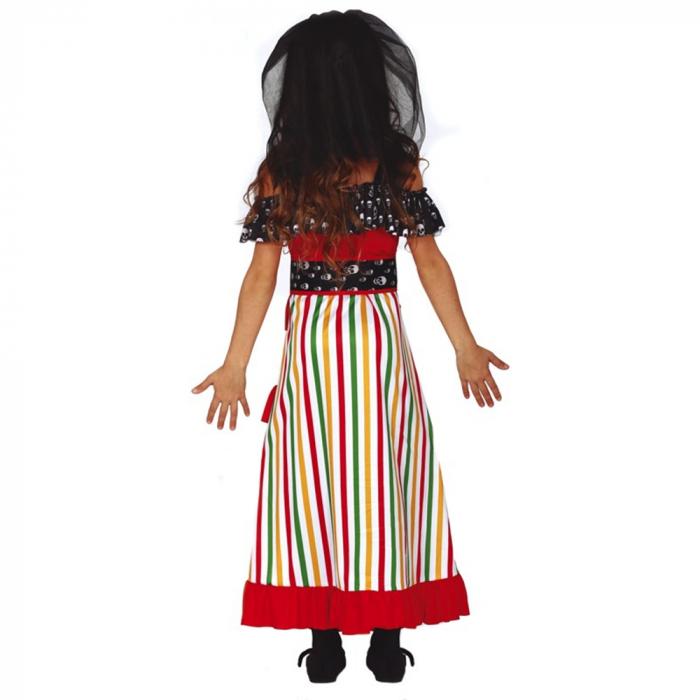 Rochie Schelet Dia de Los Muertos 5 - 6 ani [1]