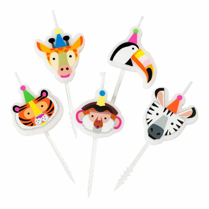 Set 5 Lumanari Party Animals 0