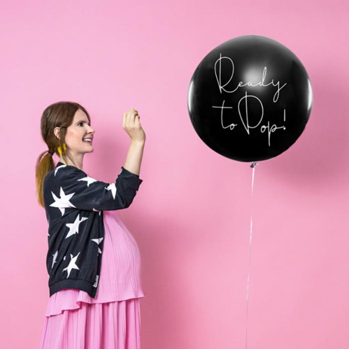 Balon cu Confetti Gender Reveal, Fetita - 100 cm 1