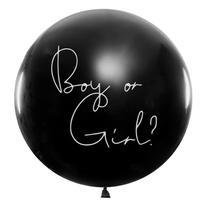 Balon cu Confetti Gender Reveal, Baiat - 100 cm 0