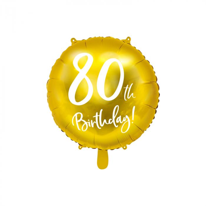 Balon Folie 80 ani - 45 cm 0