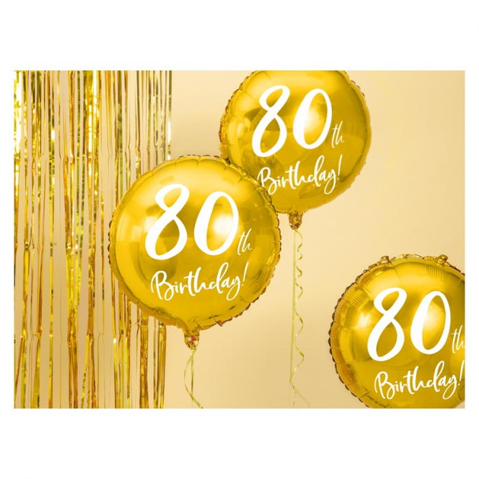 Balon Folie 80 ani - 45 cm 6