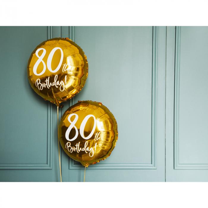 Balon Folie 80 ani - 45 cm 3