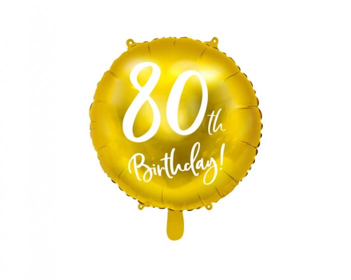 Balon Folie 80 ani - 45 cm 4