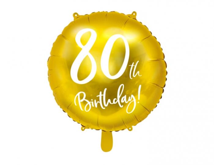 Balon Folie 80 ani - 45 cm 9
