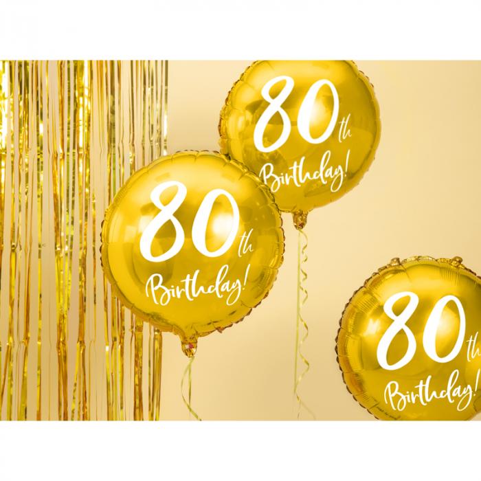 Balon Folie 80 ani - 45 cm 1