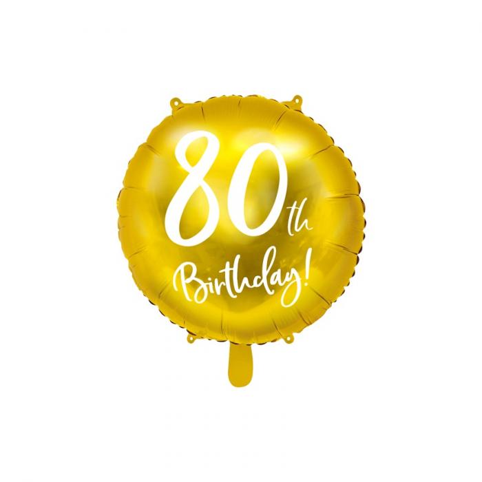 Balon Folie 80 ani - 45 cm 7