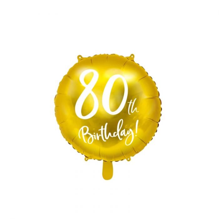 Balon Folie 80 ani - 45 cm 8
