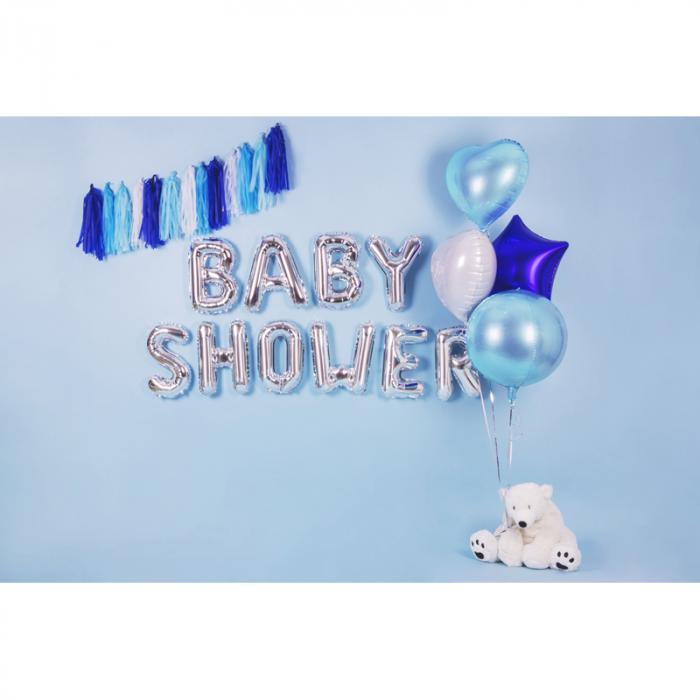 Balon Folie Albastru Deschis - 40 cm 2