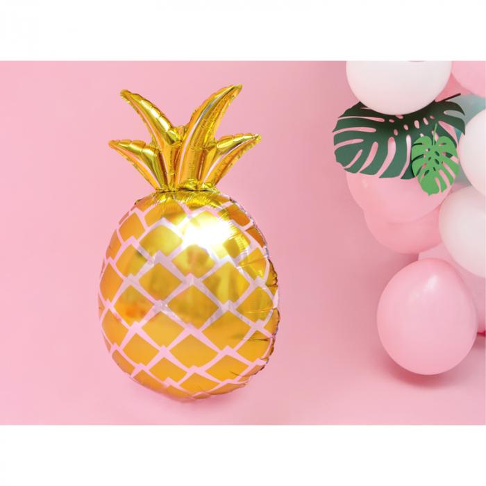 Balon Folie Ananas Auriu - 48x67 cm 1