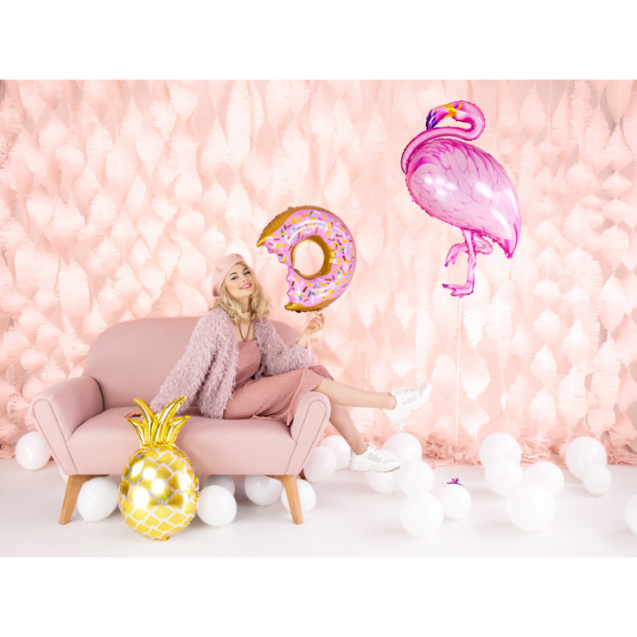 Balon Folie Ananas Auriu - 48x67 cm 4