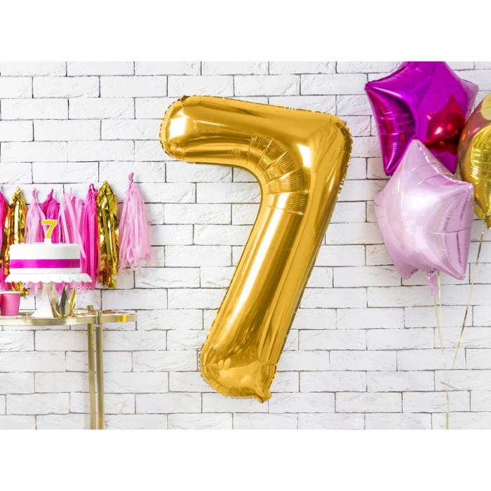 Balon Folie Cifra 7 Auriu, 86 cm [1]