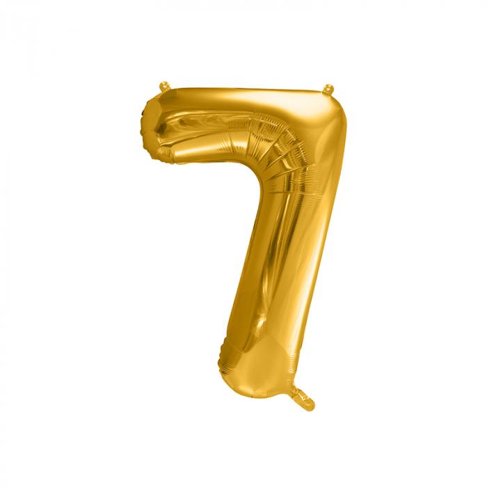 Balon Folie Cifra 7 Auriu, 86 cm [0]