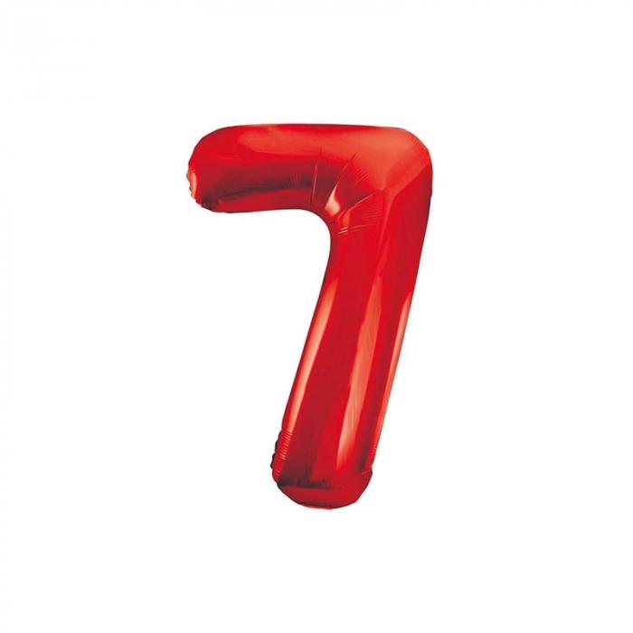 Balon Folie Cifra 7 Rosu, 86 cm 0