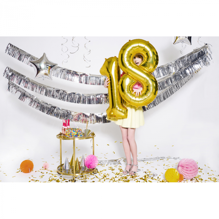 Balon Folie Cifra 8 Auriu, 86 cm [3]