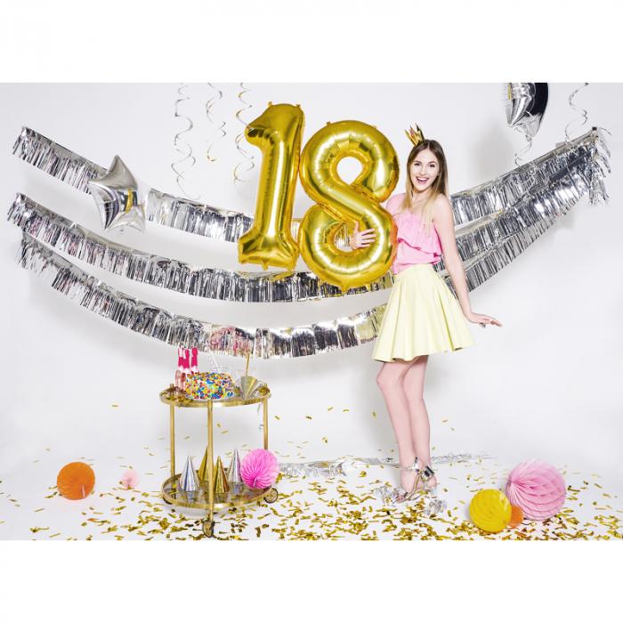 Balon Folie Cifra 8 Auriu, 86 cm 2