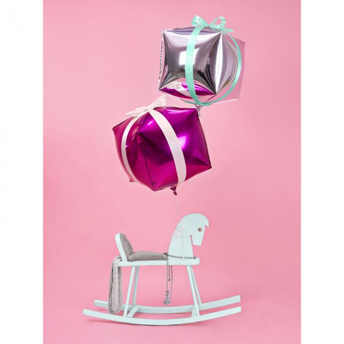 Balon Folie Cub, Argintiu - 35 cm 3