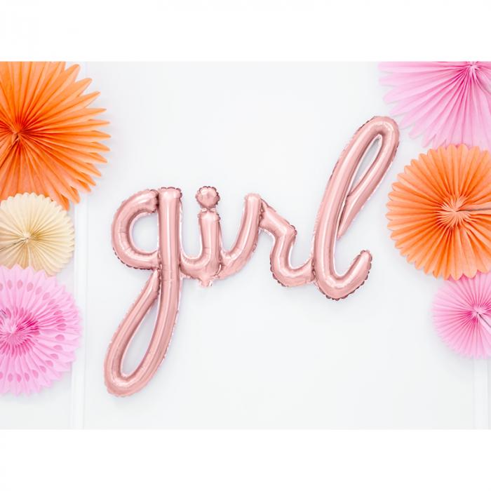 Balon Folie Girl, Roz - 77x70 cm 1