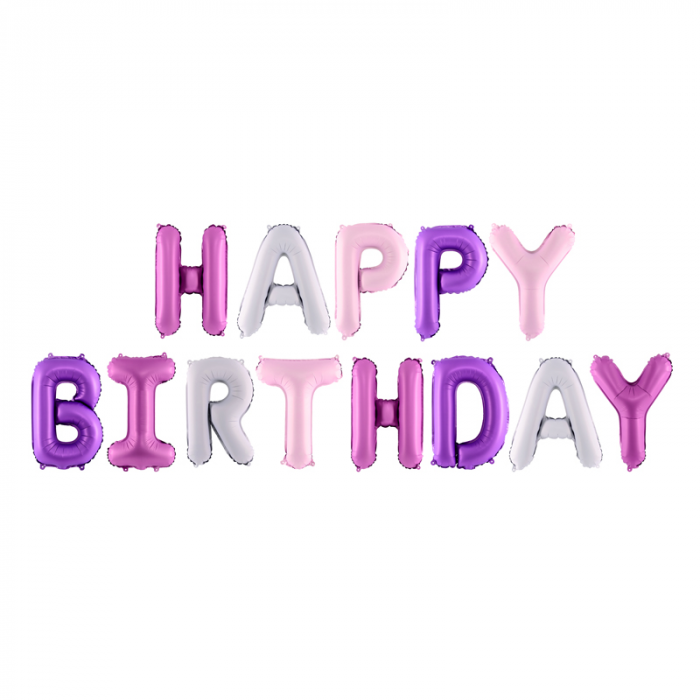 Baloane Folie Happy Birthday Multicolor - 340x35 cm [0]