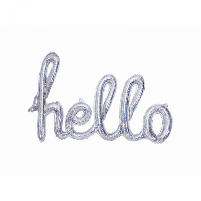 Balon Folie Holografic Hello - 72x45 cm 0
