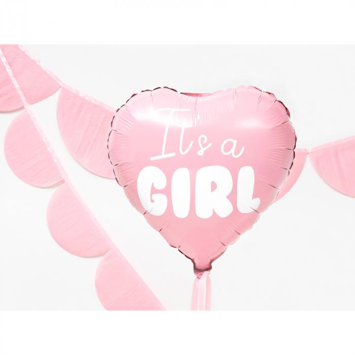 Balon Folie Inima, It's a Girl - 45 cm [3]